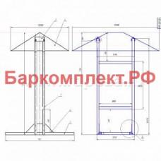 Подставка с навесом для сплит-систем север корпус 1, разборная ТТМ ПССП1-150/15