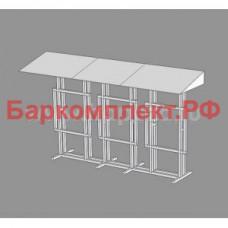Подставка с навесом для 3-х сплит-систем север корпус 1 и/или 2, разборная, 3000х750х1760мм ТТМ ПССП1/2-300/75-3
