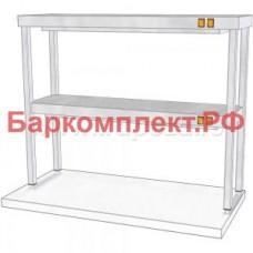 Подогревающие лампы и поверхности полки тепловые ТТМ ПНПК2-100/3